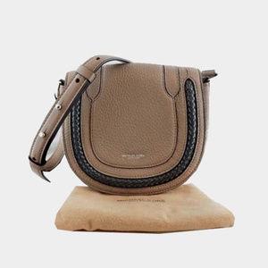 MICHAEL KORS Dark Taupe Leather Crossbody Bag$650.
